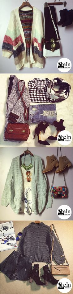 spring, summer, fall, winter sweater, blazer, boots