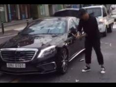 Кореец крушит свой Mercedes клюшкой для гольфа