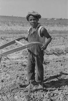 New-Madrid-Missourit-son-of-sharecropper-cultivating-cotton- field-by-Photographer-Russell-Lee-1938