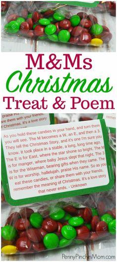 M&M Christmas Poem (Printable Included)