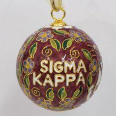 Sigma Kappa Colorful Original Cloisonne by KittyKellerDesigns