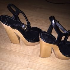 fb15ad089502 Zara black and cork wedges Perfect condition black and cork wedges ! No  negotiating or trades