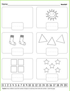 one to five,numbers worksheet