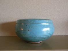 Vintage Vivika & Otto Heino Turquoise Blue bowl by GARCIAHOUSE on Etsy