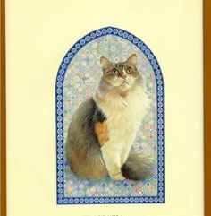 lesley anne ivory cats | LESLEY ANNE IVORY paints GLORIOUS CATS. A 1989 vintage edition