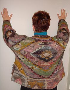 Kilim jacket by Kaffe Fassett