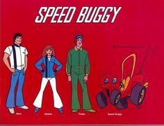 Hanna-Barbera's Speed Buggy cartoon. Va-room-a-zoom-zoom!