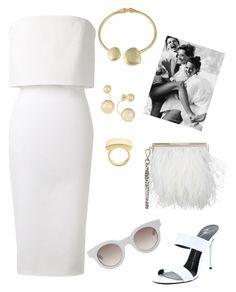 """White Contest."" by schenonek on Polyvore featuring moda, Victoria Beckham, Giuseppe Zanotti, Jimmy Choo, Kenneth Jay Lane, Sun Buddies y Elizabeth and James"