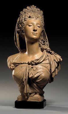 BUST OF A WOMAN, POSSIBLY MARGUERITE BELLANGER By Albert-Ernest Carrier-Belleuse