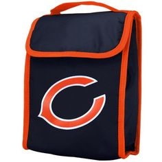 NFL Chicago Bears Insulated Team Logo Lunch Bag - Navy Blue by Forever Collectibles. $4.99. Chicago Bears NFL Football Velcro Close Insulated Lunch Bag. This high quality bag measures 9.5 by 7.25 by 5 inches, this bag closes with hook and loop tape closures on the fold over flap, is lined for easy cleaning, and folds up flat for easy storage! A great way to tote your lunch to school, work, or a game!