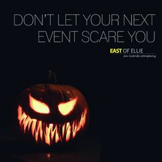 We get it, events can be terrifying. But luckily, we're a no tricks, all treats type of team. www.eastofellie.com