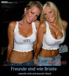 Freunde sind wie Brüste - www.MegaPics.ch. Lustige Bilder, witzige Pics, fun Clips, fail Videos.