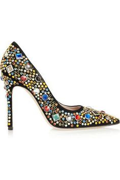 Wow Embellished suede pumps #pumps #covetme #miumiu