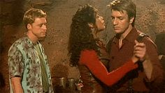 Nathan Fillion & Gina Torres dancing BTS of Firefly---click through for gif set. #Serenity