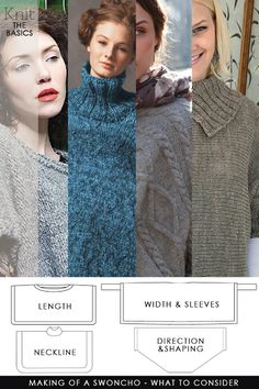 DiaryofaCreativeFanatic: Needlecrafts - Knit, Making of a Swoncho Creative Knitting, Easy Knitting, Knitting Patterns Free, Knit Patterns, Knitting Ideas, Knitting Projects, Sewing Patterns, Crochet Poncho, Knitted Shawls