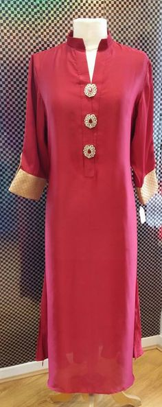 Sutied for all occation Kurti Neck Designs, Salwar Designs, Blouse Designs, Indian Attire, Indian Wear, Pakistani Outfits, Indian Outfits, Lovely Dresses, Simple Dresses