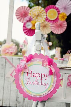 Lemonade Party Lemonade Stand Birthday Party Decorations Lemonade Stand shabby chic Birthday Door Sign Birthday Sign