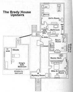 Retro house plans on pinterest vintage house plans home for Brady bunch floor plan