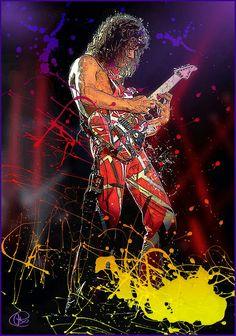 Eddie Van Halen, Metal Bands, Rock Bands, Rock N Roll, Rock And Roll Artists, Heavy Metal Art, Punk, Rock Posters, Rock Legends