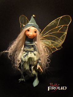 Little Light Blue Faery - Armatured Doll Figure by Wendy Froud