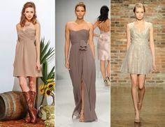 2014 Trend- Bridesmaid Dresses- Neutral