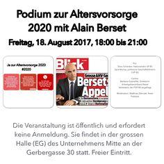 Podium zur #Altersvorsorge mit Alain #Berset #av2020 #altersvorsorge #abst17