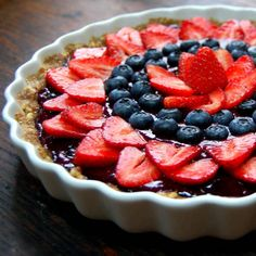 Açai Berry Tart, perfect for summer and made just right!