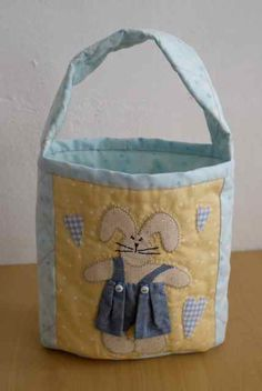 Boy Bunny Bag Completed