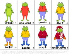 Froggy Gets Dressed Activity pack for free