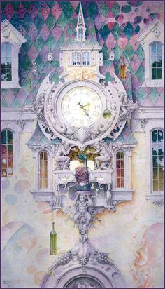 """Emotional Clock "" ~ Daniel Merriam ~ Watercolorist Extraordinaire"
