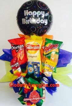 Arreglo de globos, Arreglo de globos envío Monterrey, Regalo para hombre, Regalo para caballero, Regalo de dulces con globos y tarro, Arreglo de cumpleaños, Arreglo para toda ocasión, Arreglo para aficionado, Arreglo de globos con tarro y dulces cumpleaños monterrey, Arreglo de Botanas y globo para cumpleaños envío monterrey Candy Gift Baskets, Candy Gifts, Birthday Box, Candy Bouquet, Doritos, Boyfriend Gifts, Pop Tarts, Buffet, Snack Recipes