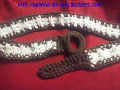 Earning My Cape: Crochet Textured Belt (free Crochet Pattern)