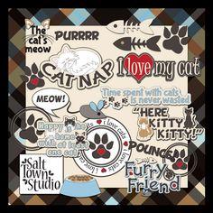 Must Love Cats Word Art | Salt Town Studio Digital Art