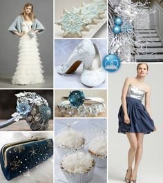 a Winter Wedding in Blue and Silver