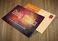 Check out Giving Thanks Church Postcard by loswl on Creative Market