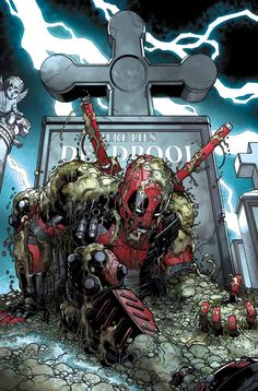 Deadpool by Nick Bradshaw, colours by Jason Keith
