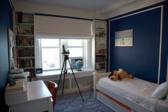 navy and gray bedroom - Google Search