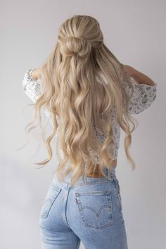 Cute Hairstyles For Teens, Easy Hairstyles For Long Hair, Teen Hairstyles, Simple School Hairstyles, Natural Hairstyles, Cute Blonde Hairstyles, Cute Quick Hairstyles, Wedding Hairstyles, Halloween Hairstyles