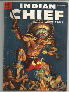 Vintage comic INDIAN CHIEF Issue NO 16 Vol 1 1954 in Fine condition. Published by Dell Publishing. golden age comics. $12.00