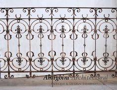 Wrought iron railing. Price per entire unit.