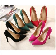 2016Womens High Heels Pointed Toe Shallow mouth Sexy Stilettos...