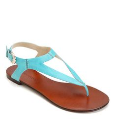 Take a look at this Turquoise Leather Wallace Sandal by Bernardo on #zulily today!