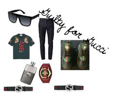 """""""Guilty for Gucci"""" by outerego on Polyvore featuring Gucci, men's fashion and menswear"""