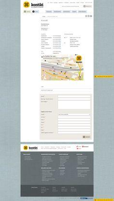 Kontiki, winter contact page