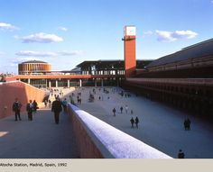 Atocha Station - Rafael Moneo Famous Architects, School Architecture, Postmodernism, Plan Design, Public Transport, Abandoned Places, Tower, Building, Photography