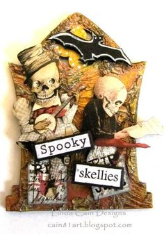 FRIENDS in ART: Gothic Tombstones and Halloween ATC Fairy Box