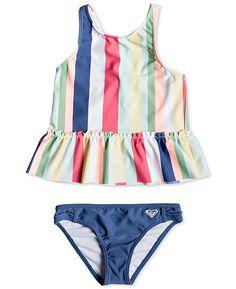 386a215fef Roxy Little Girls Tankini Swimsuit - Swimwear - Kids - Macy's Toddler Girl  Bathing Suit,
