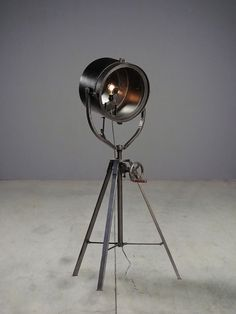 Cool Looking Lamps for sale. truly one of a kind floor lamp. antique bellows vacuum