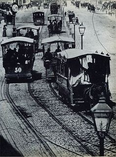 Horse-drawn tramways in Vienna, Scenery Pictures, Rare Pictures, Austro Hungarian, Hollywood, Horse Drawn, Vienna Austria, Back In The Day, Old Photos, Art History