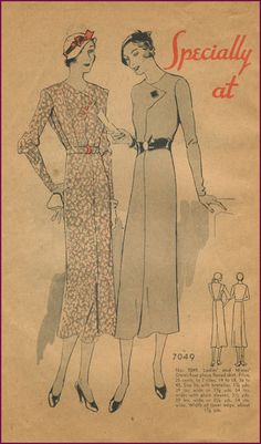 McCall Style News, September 1932 featuring McCall 7049